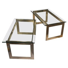 Pair of Stainless Steel Side Tables for Ramsay Boutique