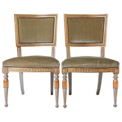 Pair of Stamped Ephraim Ståhl Late Gustavian Chairs, circa 1800, Stockholm