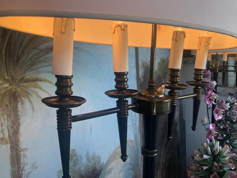 Pair of Standing Floor Lamps In the Style of Mathieu Mategot For Sale 2