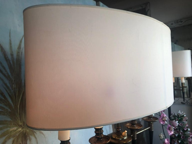 Pair of Standing Floor Lamps In the Style of Mathieu Mategot For Sale 3