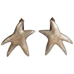 "Pair of ""Star"" Andirons"