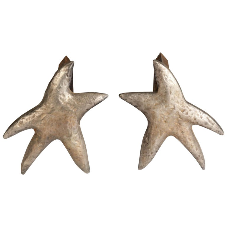 "Pair of ""Star"" Andirons  For Sale"