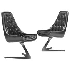 Pair of 'Star Trek' Sculpta Swivel Chairs by Chromcraft