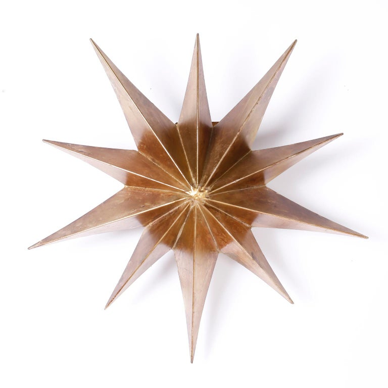 Mid-Century Modern Pair of Star Wall Sconces For Sale