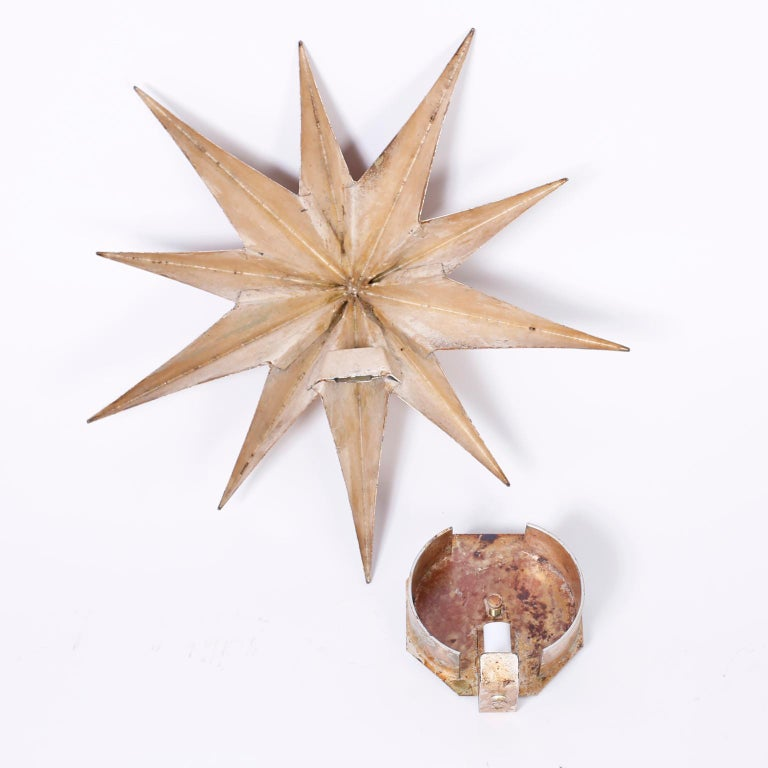 Pair of Star Wall Sconces For Sale 1