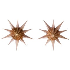 Pair of Star Wall Sconces