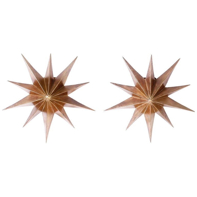 Pair of Star Wall Sconces For Sale