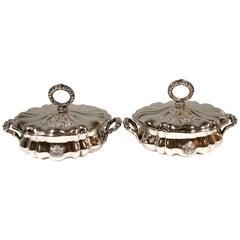 Pair of Stately Silver Terrines by Mayerhofer & Klinkosch, Vienna, 1846