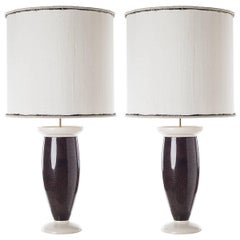 Pair of Statuary Ceramic Table Lamps