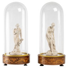 Pair of Statuettes in Lorraine Terracotta, Early 19th Century