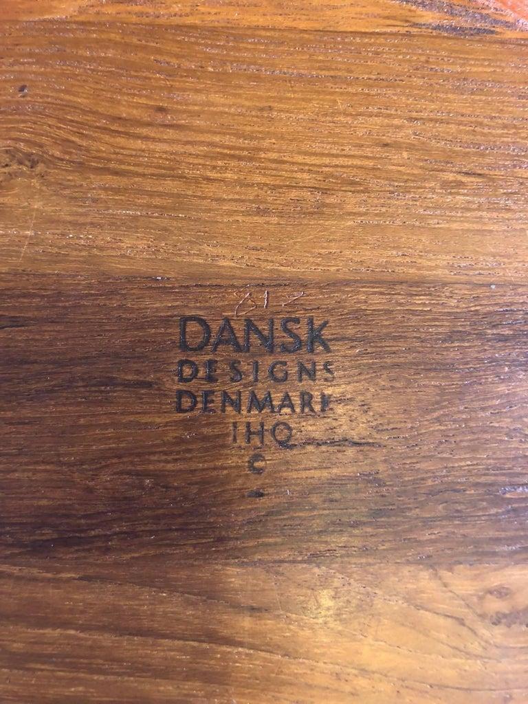 Pair of Staved Teak Serving Bowls by Jens Quistgaard for Dansk For Sale 4