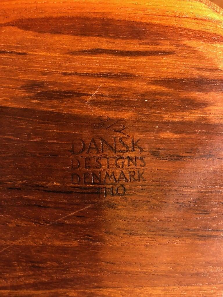 Pair of Staved Teak Serving Bowls by Jens Quistgaard for Dansk For Sale 2
