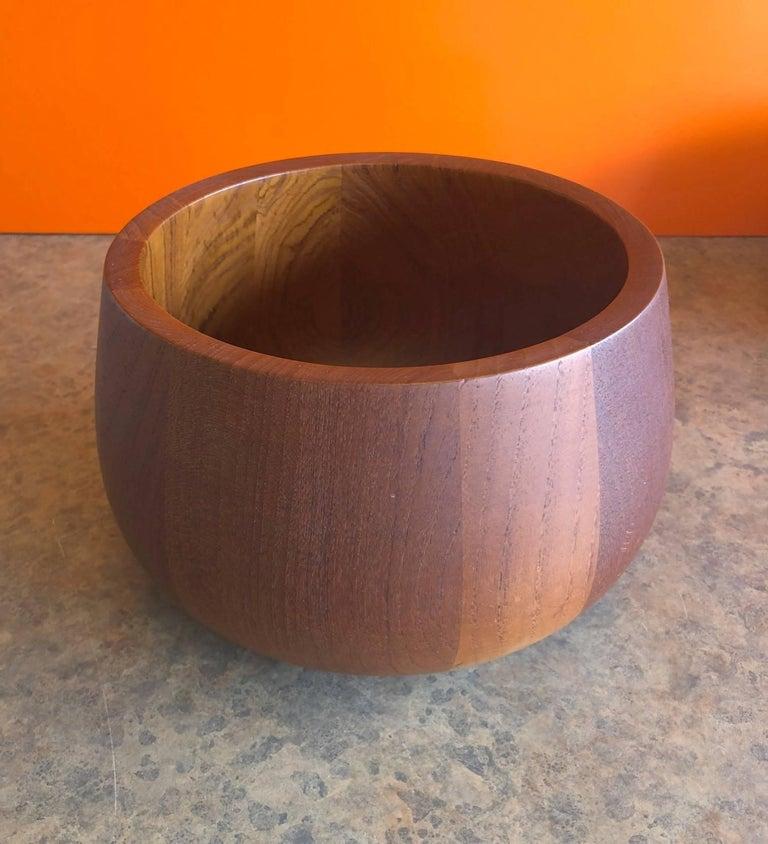Pair of Staved Teak Serving Bowls by Jens Quistgaard for Dansk For Sale 3