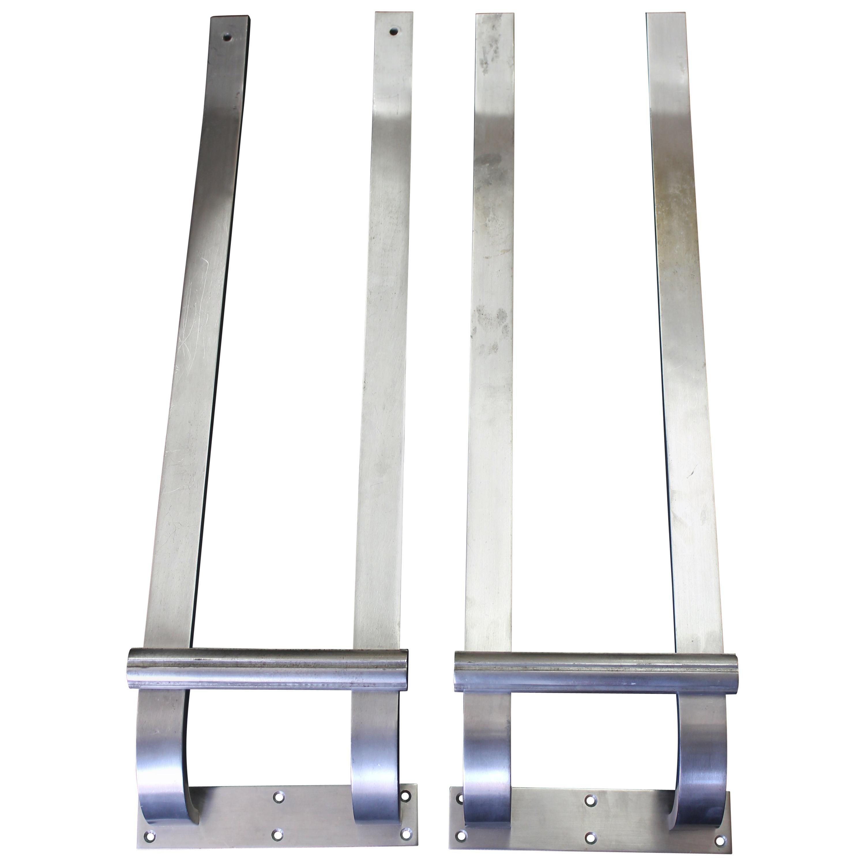 Pair of Steel Door Handles