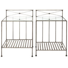 Pair of Steel End Tables