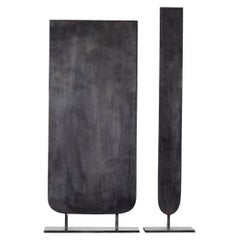 Pair of Steel Sculpted Vases, Signed by Lukasz Friedrich