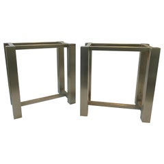 Pair of Steel Table Bases