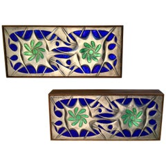 Pair of Sterling and Wood Boxes by Ottaviani