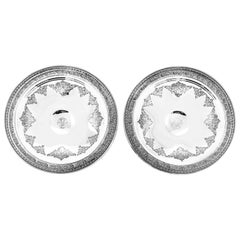 Pair of Sterling Compotes