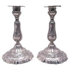 Pair of Sterling Silver Candlesticks by Reed & Barton