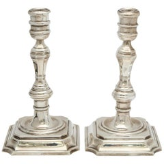 Pair of Sterling Silver Georgian Style 'George III' Candlesticks by Tane