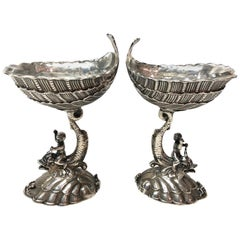 Pair of Sterling Silver Seafood Cups