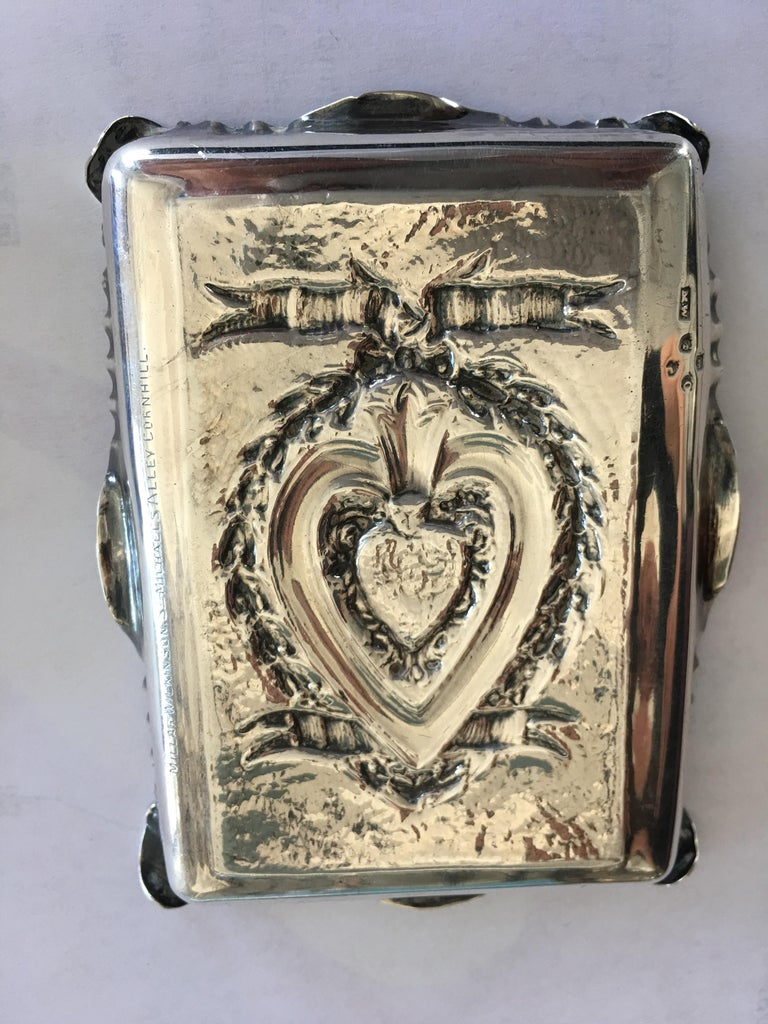 English Pair of Sterling Silver Trays For Sale