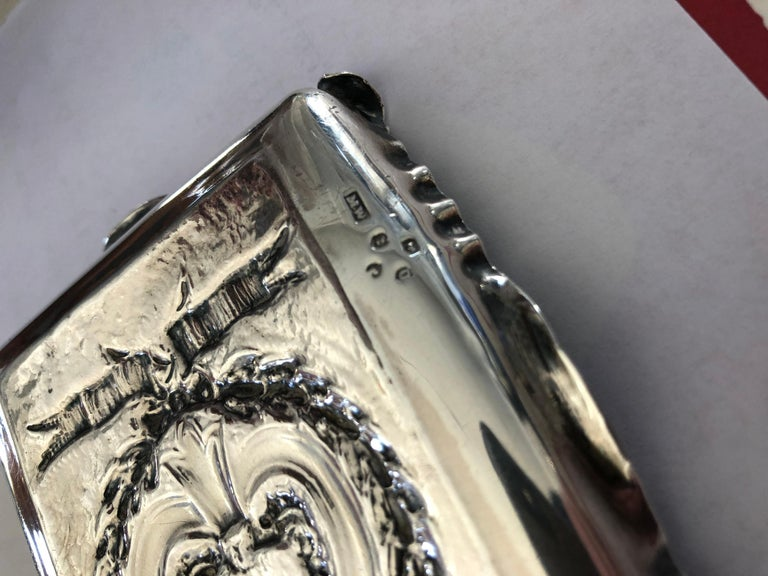 Pair of Sterling Silver Trays For Sale 1