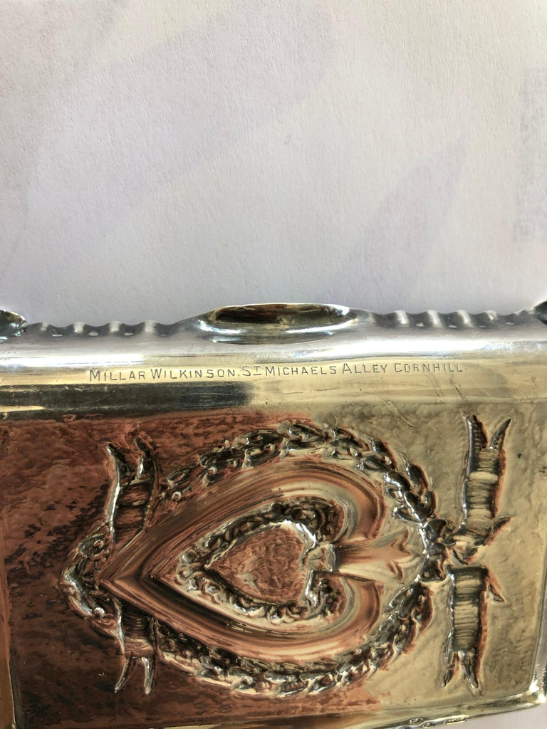Pair of Sterling Silver Trays For Sale 2