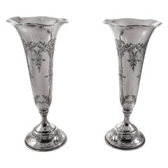 Pair of Sterling Vases