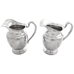 Pair of Sterling Water Pitchers