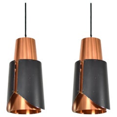 Pair of 'Østerport' Pendants by Bent Karlby for Lyfa, Denmark, 1960s