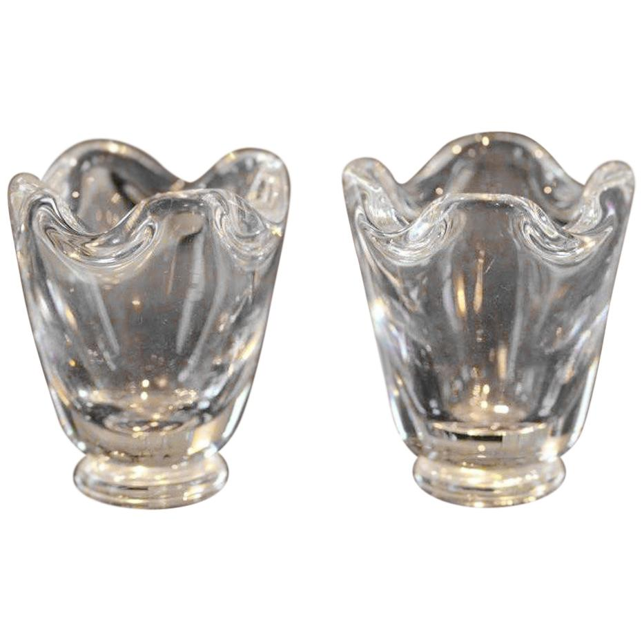 Pair of Steuben Toothpick or Match Holders
