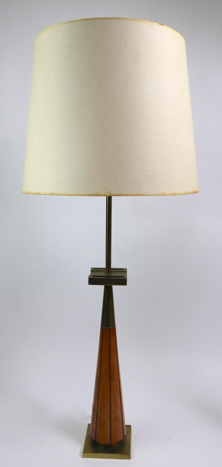 Pair of Stiffel Lamps after Parzinger For Sale 1