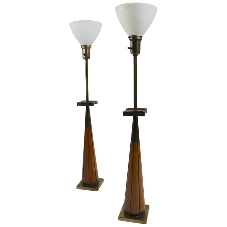 Pair of Stiffel Lamps after Parzinger For Sale