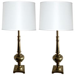 Pair of Stiffel Solid Brass Table Lamps