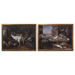 Pair of Still Life Painted in Gouache, Dutch School, 18th Century