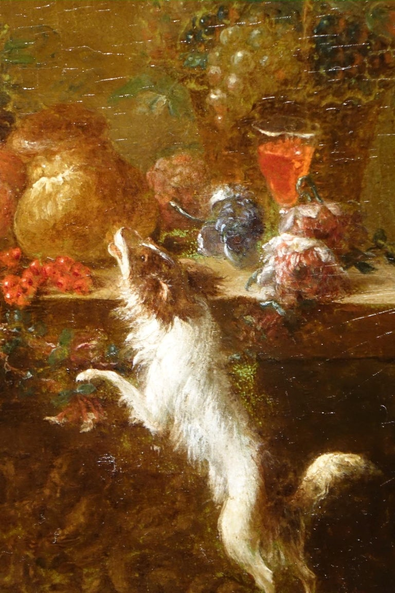 Pair of Still Life Painting, 19th Century French School, Oil on Oak For Sale 5