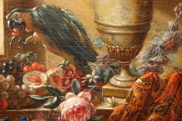Mid-19th Century Pair of Still Life Painting, 19th Century French School, Oil on Oak For Sale