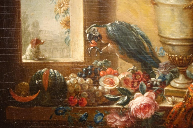 Pair of Still Life Painting, 19th Century French School, Oil on Oak For Sale 1
