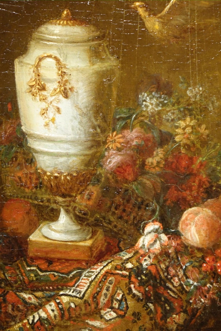 Pair of Still Life Painting, 19th Century French School, Oil on Oak For Sale 3