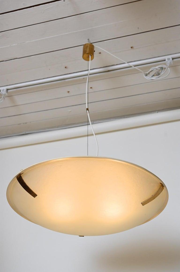 Mid-Century Modern Pair of Stilnovo Ceiling Light Model 1140 For Sale