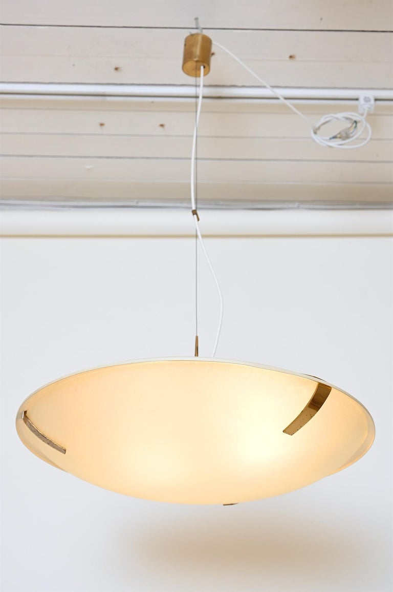 Etched Pair of Stilnovo Ceiling Light Model 1140 For Sale