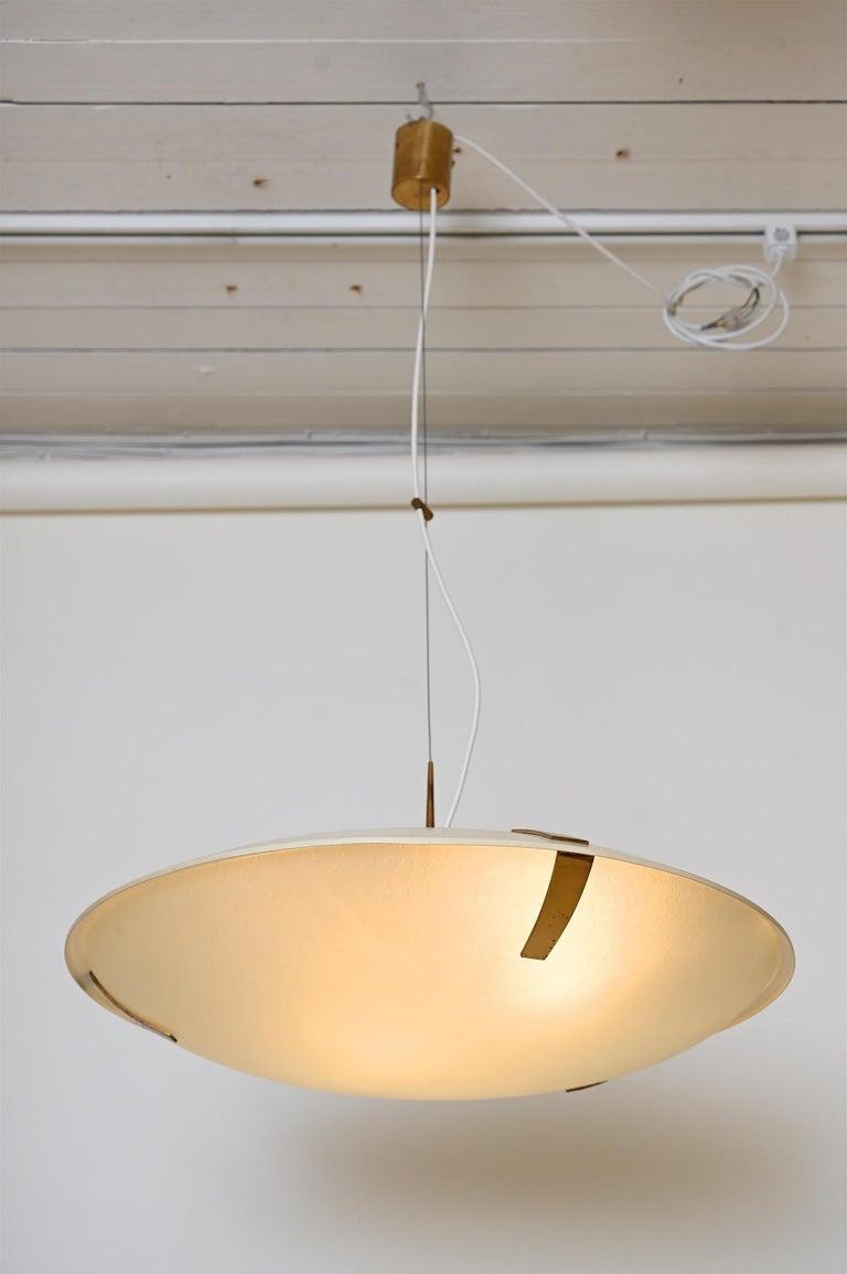Mid-20th Century Pair of Stilnovo Ceiling Light Model 1140 For Sale