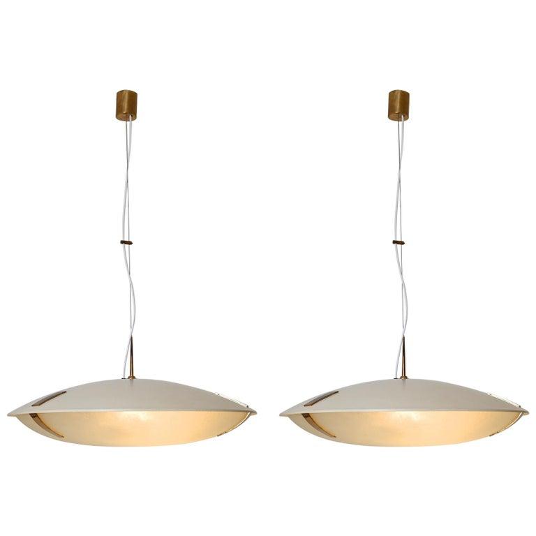 Pair of Stilnovo Ceiling Light Model 1140 For Sale