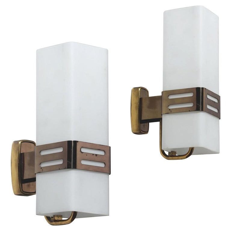 Pair of Stilnovo Wall Sconces For Sale