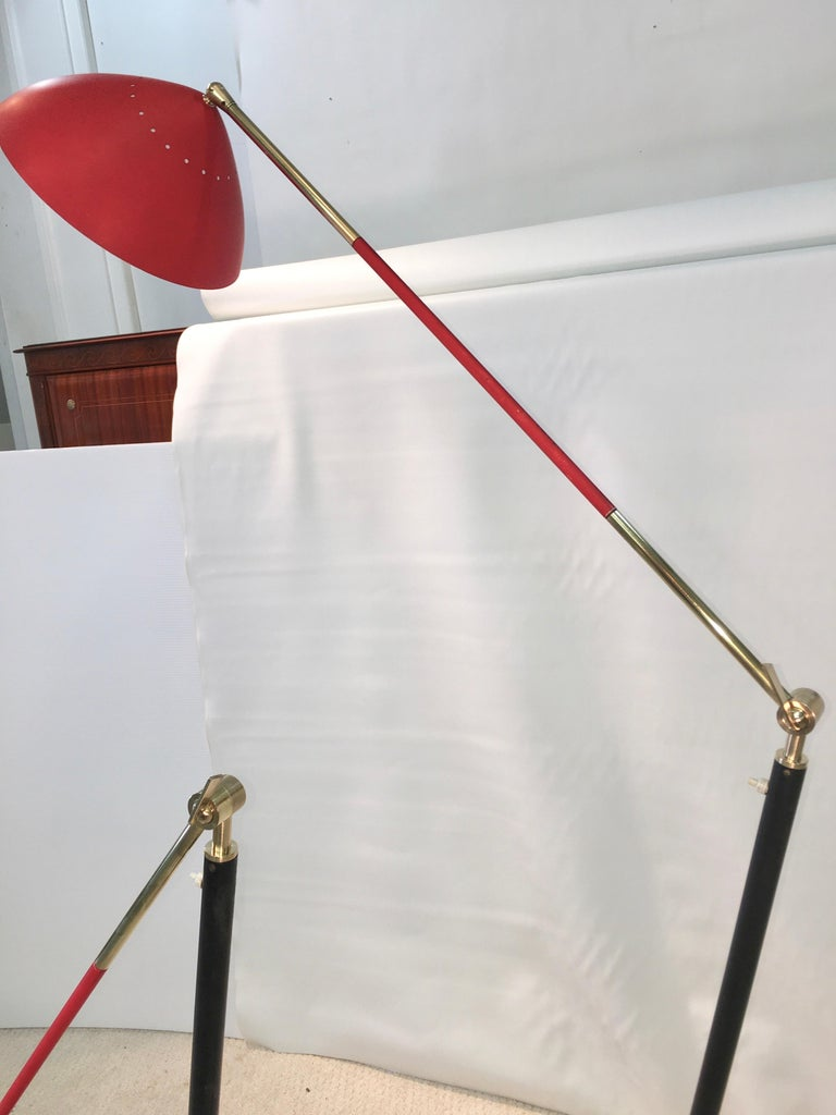 Pair of Stilux Articulating Floor Lamps For Sale 3