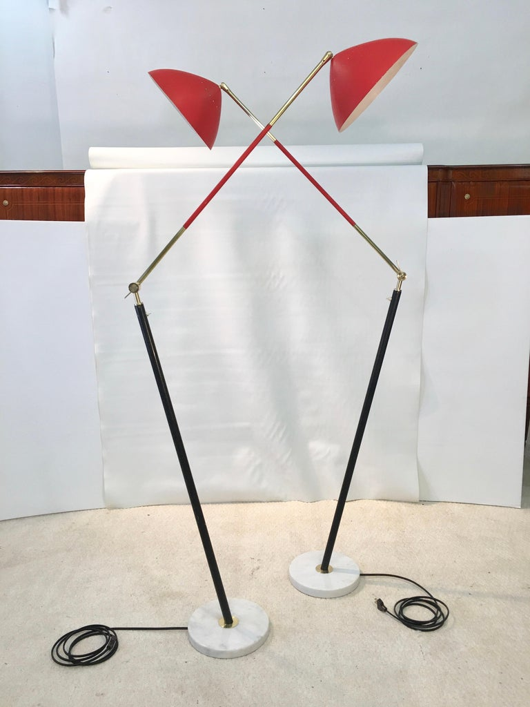 Pair of Stilux Articulating Floor Lamps For Sale 6