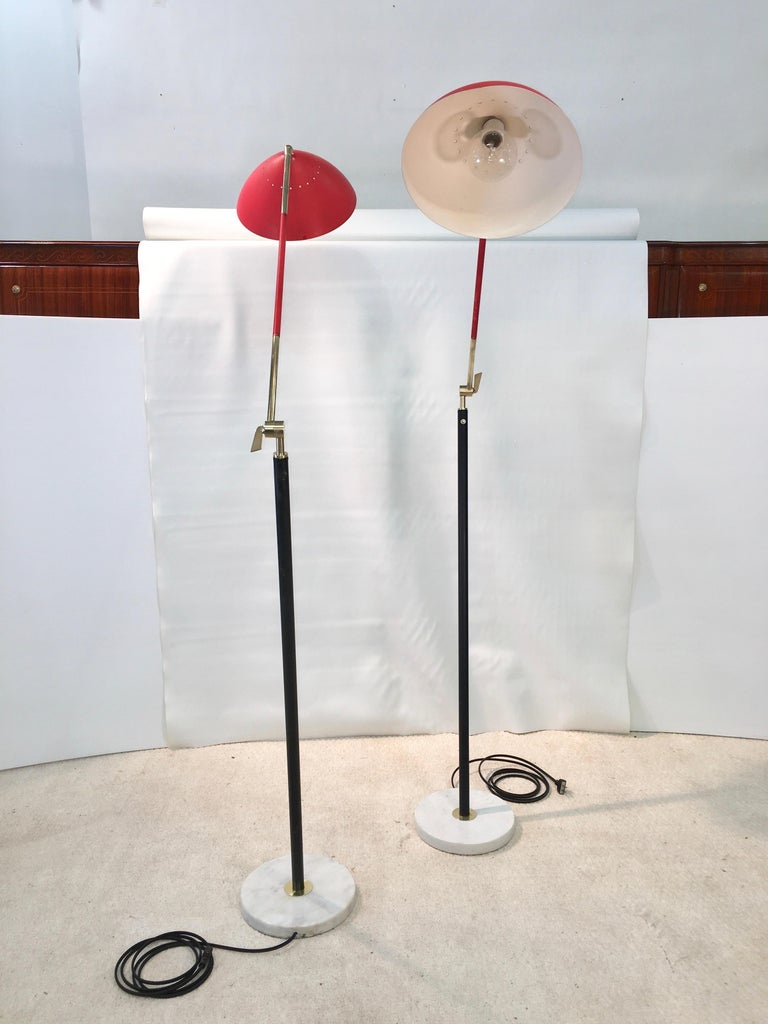 Pair of Stilux Articulating Floor Lamps For Sale 9
