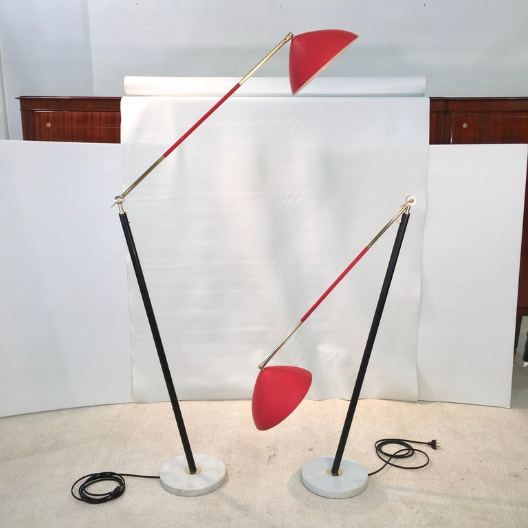 Pair of Stilux Articulating Floor Lamps For Sale 10